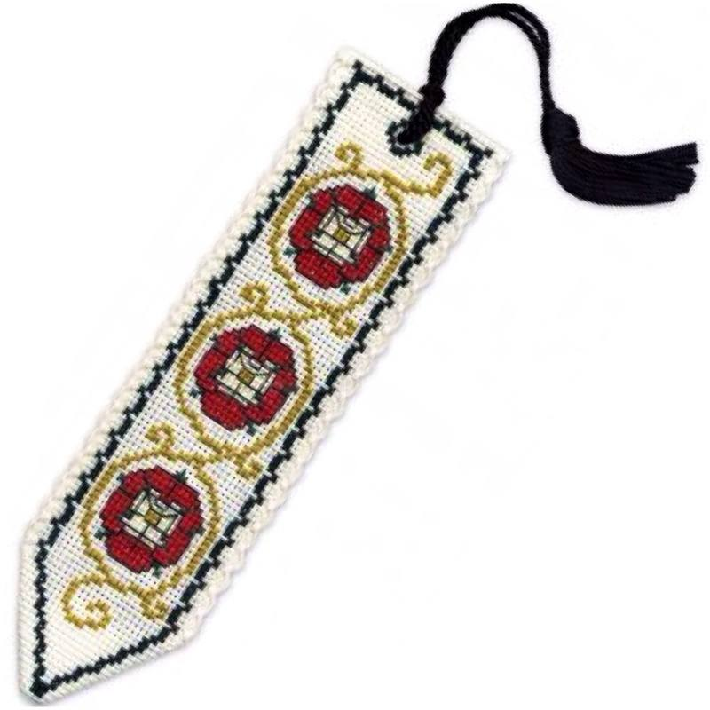 TH bookmark tassel tudor rose