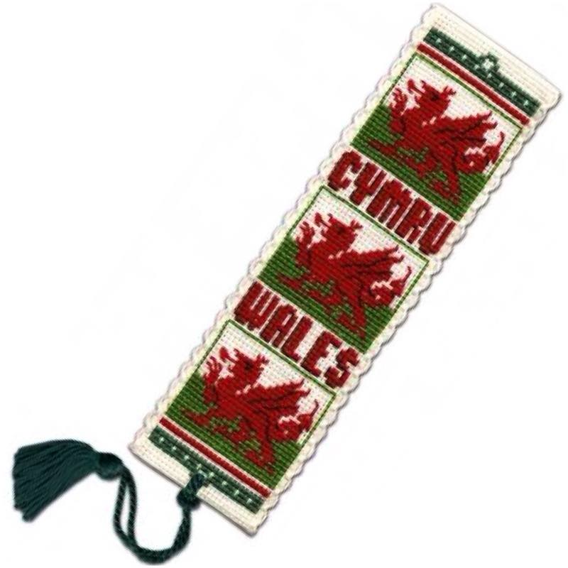TH bookmark tassel welsh dragon