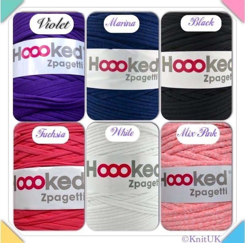 Knitting Patterns For Zpagetti Yarn : Hoooked Zpagetti Yarn DMC Knitting & Crochet Free ...
