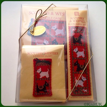 Gift Pack Scotties & Westies. Cross-Stitch Kit by Textile Heritage