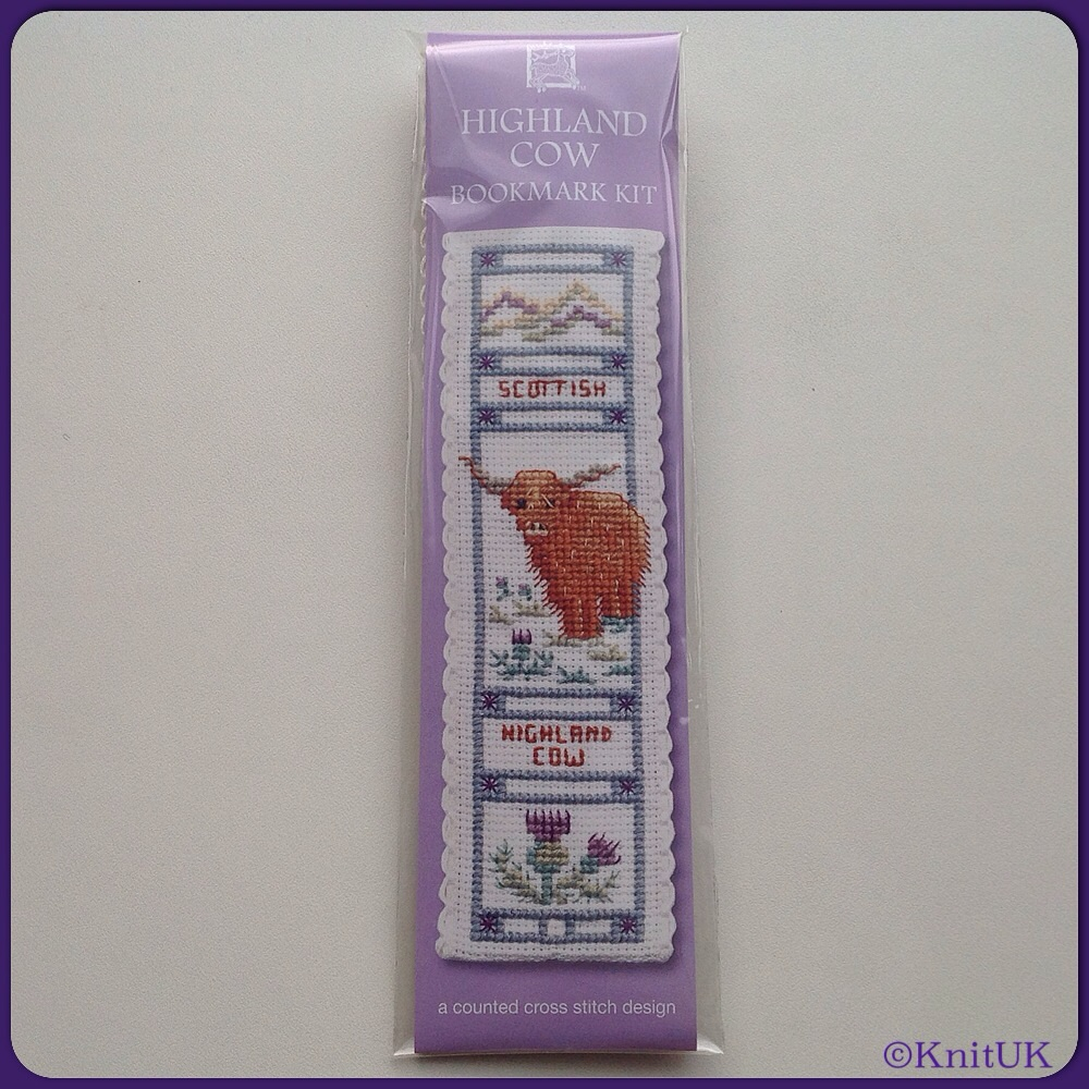 BOOKMARK Highland Cow / Cross Stitch Kit - by Textile Heritage™
