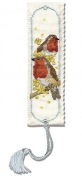 BOOKMARK Robins. Cross Stitch Kit by Textile Heritage