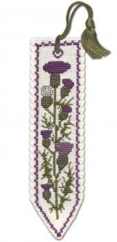 BOOKMARK Scottish Thistle. Cross-Stitch Kit by Textile Heritage