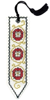 BOOKMARK Tudor Rose. Cross Stitch Kit by Textile Heritage