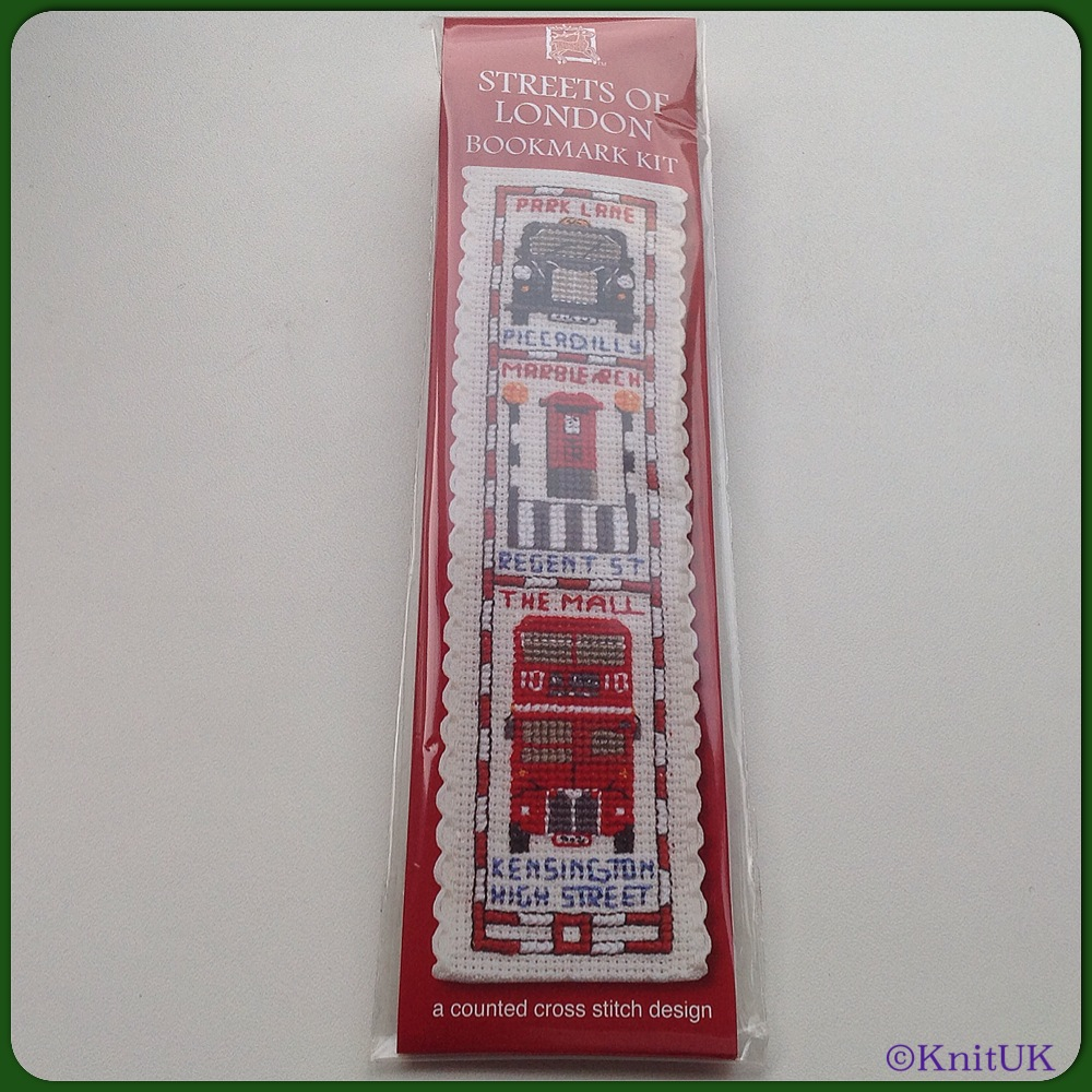 BOOKMARK Streets of London / Cross Stitch Kit - by Textile Heritage™