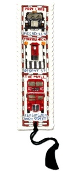 BOOKMARK Streets of London. Cross Stitch Kit by Textile Heritage