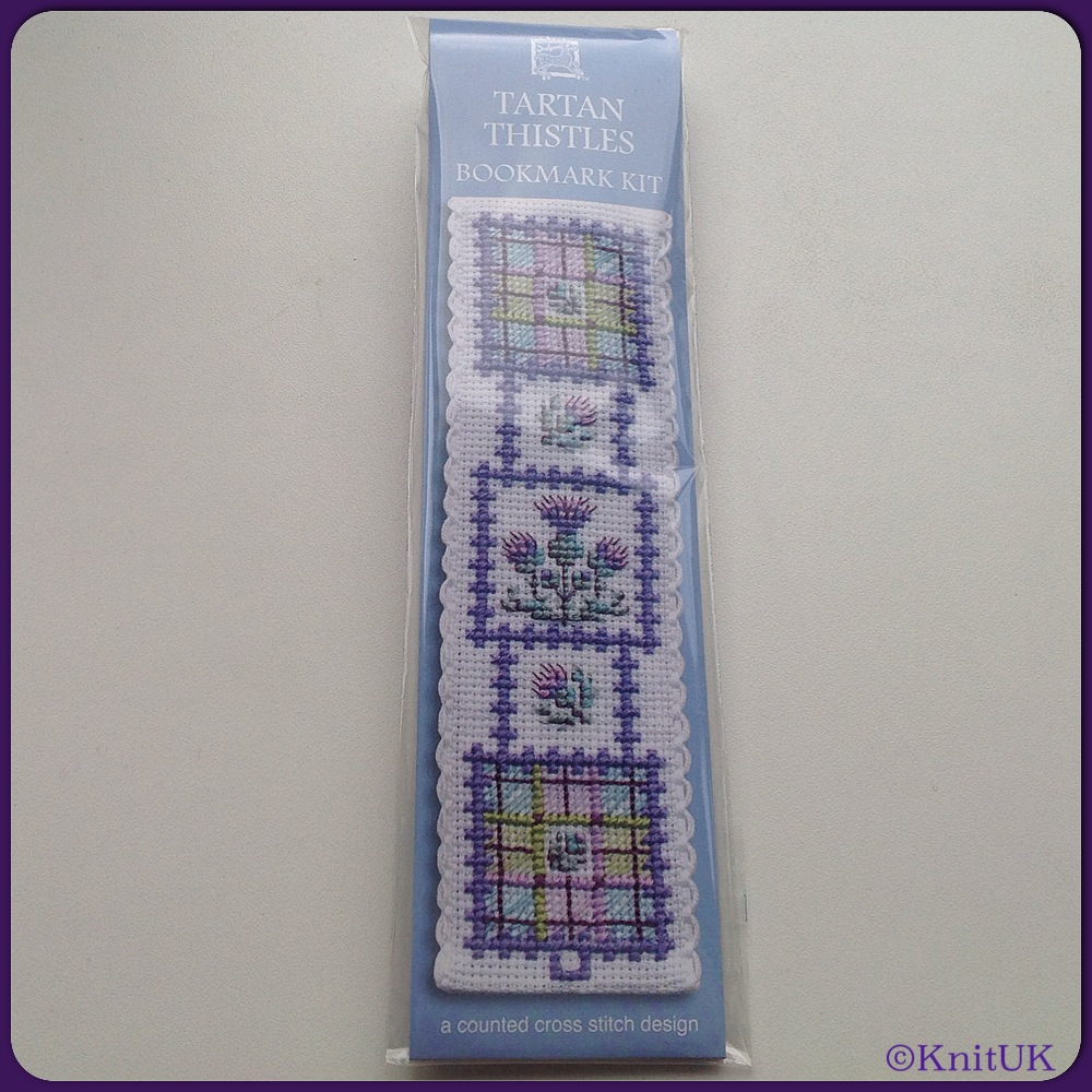 BOOKMARK Tartan Thistles / Cross Stitch Kit - by Textile Heritage™