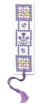 BOOKMARK Tartan Thistles. Cross Stitch Kit by Textile Heritage