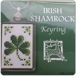 KEYRING Irish Shamrock. Cross-Stitch Kit by Textile Heritage (Made in UK)