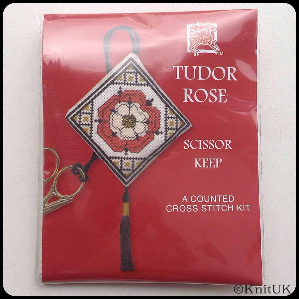 SCISSORS KEEP Tudor Rose. Cross-Stitch Kit by Textile Heritage