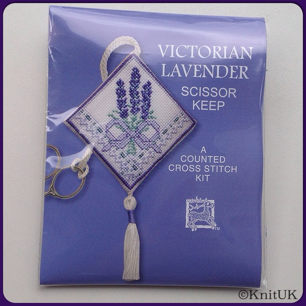 SCISSORS KEEP Victorian Lavender / Cross Stitch Kit - by Textile Heritage