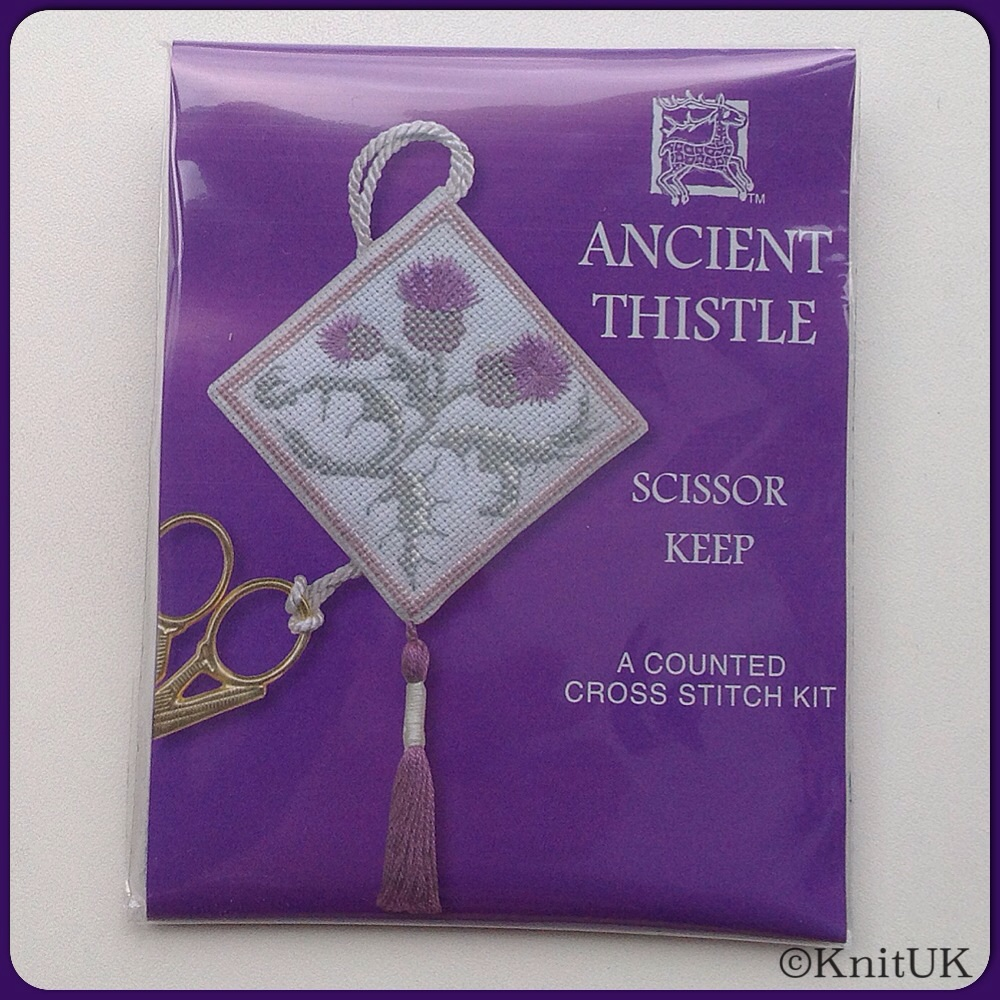 SCISSORS KEEP Ancient Thistle. Cross-Stitch Kit by Textile Heritage