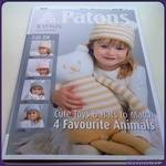 Patons Book 3867. Cute Toys & Hats to Match: 4 Favourite Animals. 20 pages (Knitting)