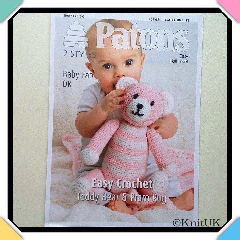 Patons Easy Crochet - Teddy Bear & Pram Rug. LEAFLET 3895