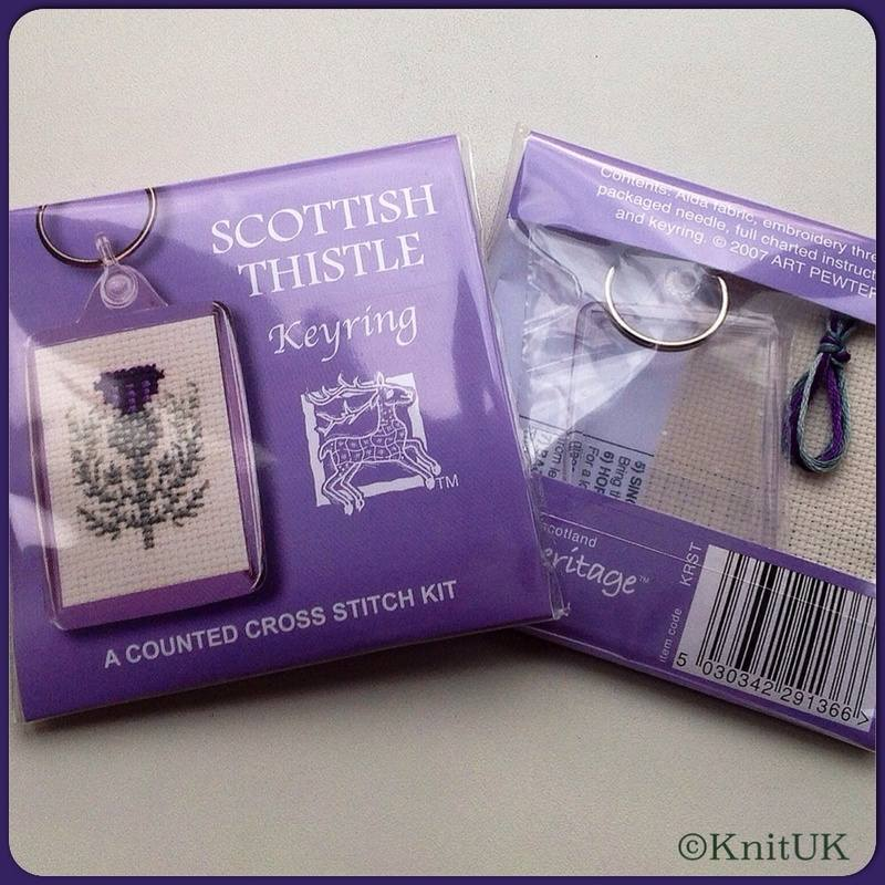 TH Keyring Scottish Thistle fb