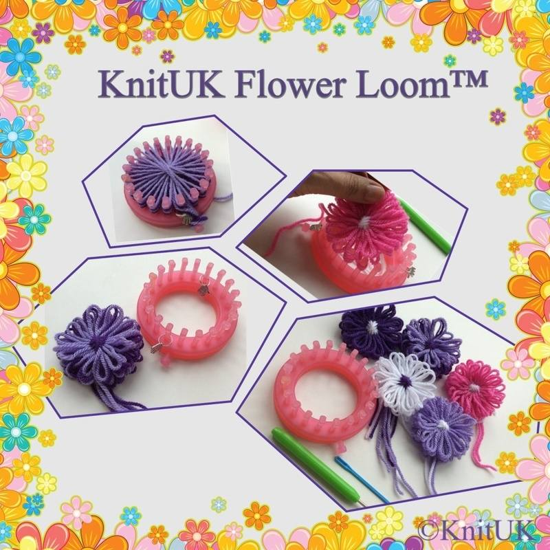 KnitUK flower loom flowers