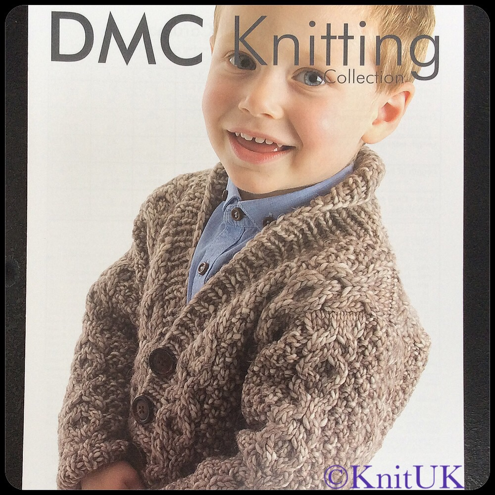 DMC Boy's Cable Knit Cardigan - Leaflet (Knitting)