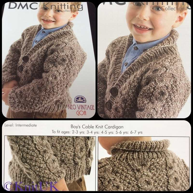 dmc boys cable cardigan 3pics