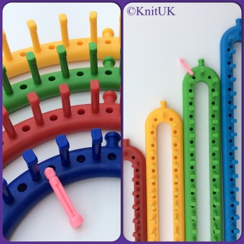 KnitUK Knitting Loom Combo Pack. Round Set + Long Set.