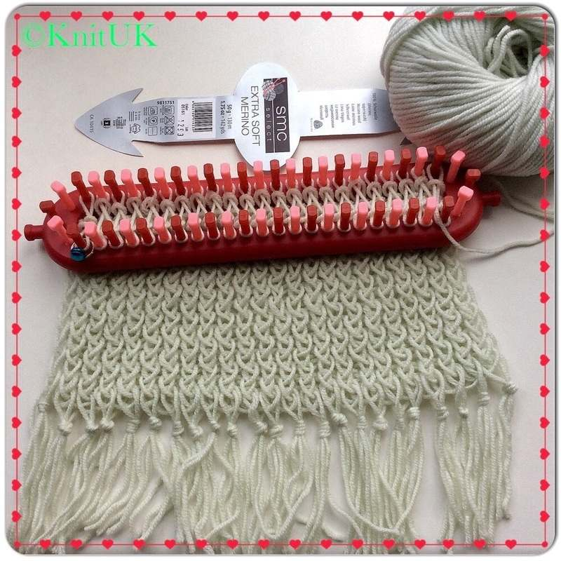 fringe scarf in a loom