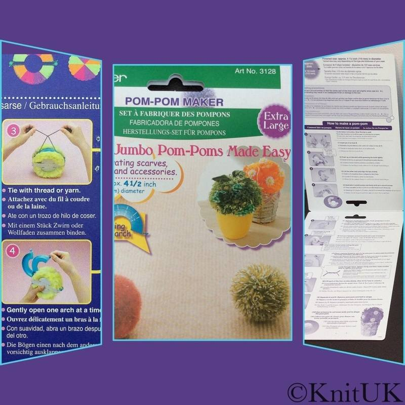clover pompom maker EL instructions