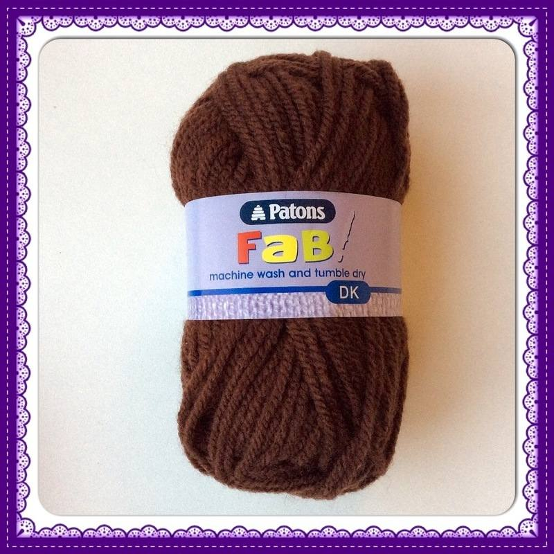 patons fab dk 25g chocolate