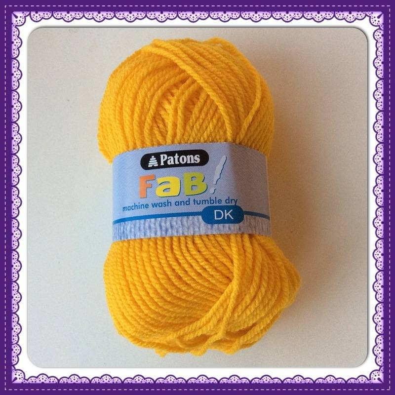 patons fab dk 25g canary