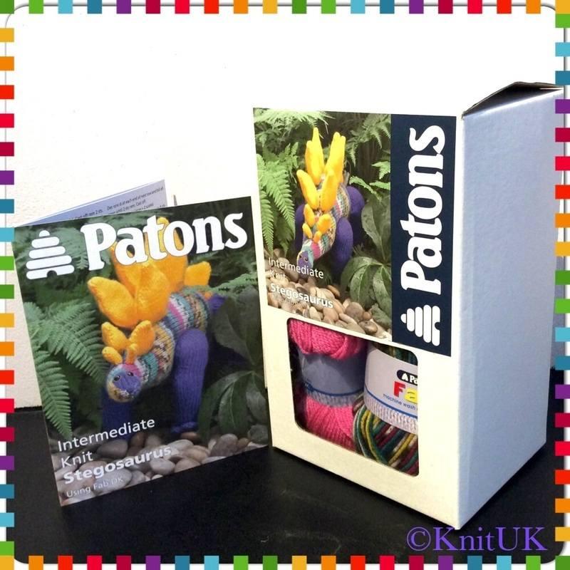 patons stegosaurus kit n leaflet