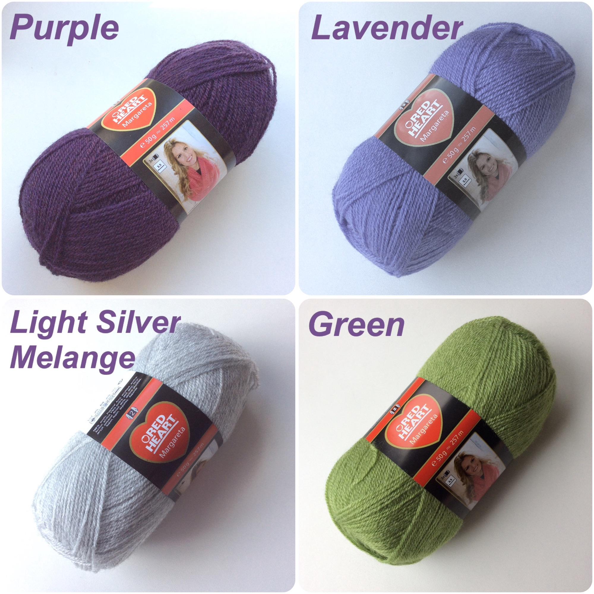 Red heart Margareta purple lavender silver green colour