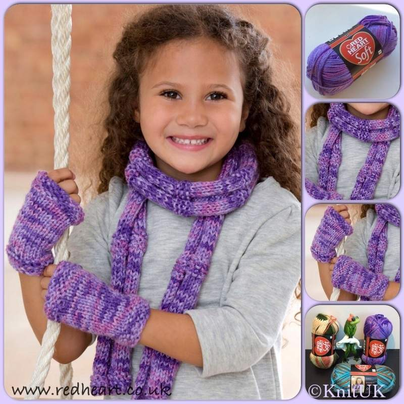 RH Soft prints scarf n writ warmers