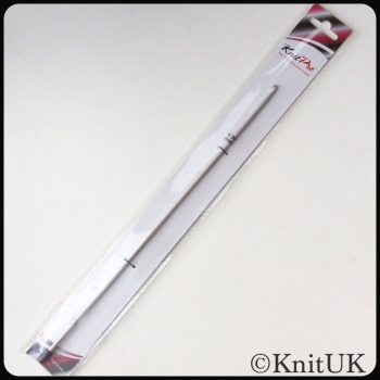 KnitPro 30cm Single Ended Grey Tricot/Afghan Crochet Hook. Price per unit