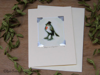 ROBIN IN A TOP HAT - CARD