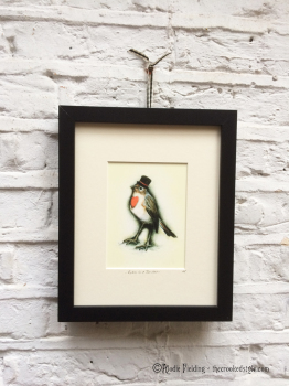 011. ROBIN IN A TOP HAT - GICLEE PRINT