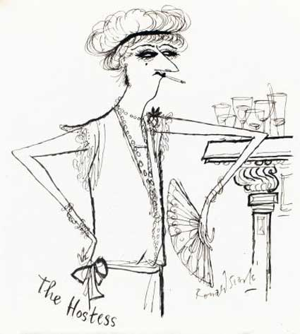 The Hostess by Ronald Searle