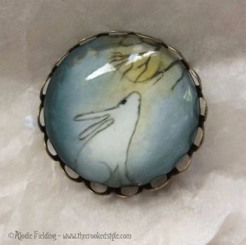 MOON GAZY HARE - BROOCH
