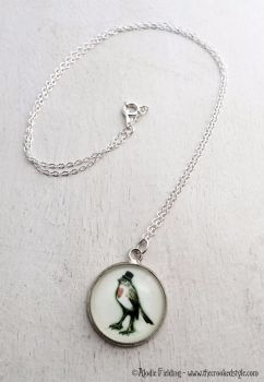 ROBIN IN A TOP HAT PENDANT