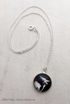 SNOWBIRD ( Black Background ) - PENDANT