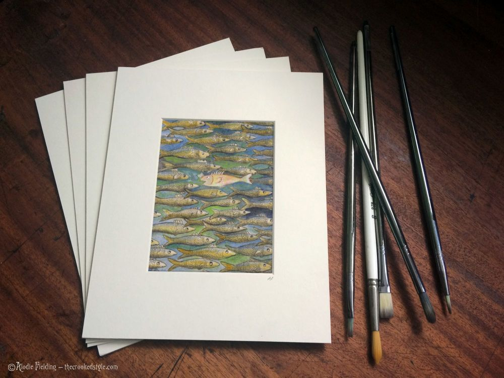 007. SWIMMING AGAINST THE TIDE - GICLEE PRINT