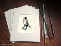 018 - ROBIN IN A TOP HAT - GICLEE PRINT