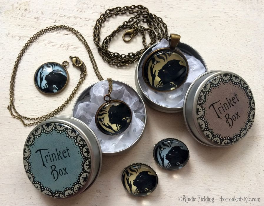 FERN GIRL PENDANTS AND BROOCHES