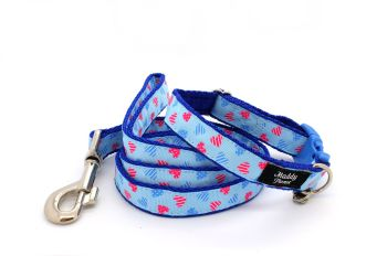 Blue & pink hearts Collar