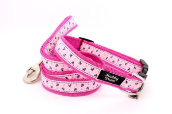 Cerise/Pink anchors collar