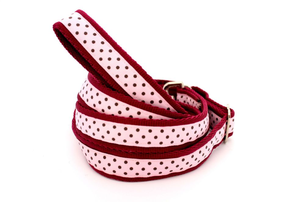 Pink & brown spots collar