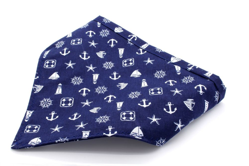 Navy nautical Bandana