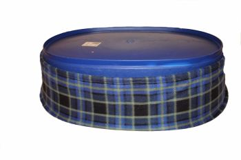 blue check fleece bed liner