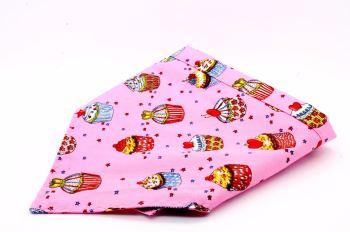 Pink cupcakes bandana