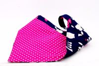 Navy/Cerise reversable bandana