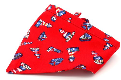 Red nautical Bandana