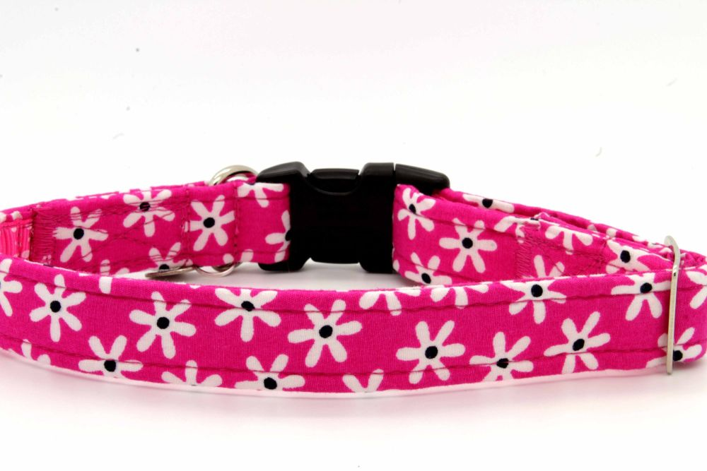 Pink/white Daisies Collar
