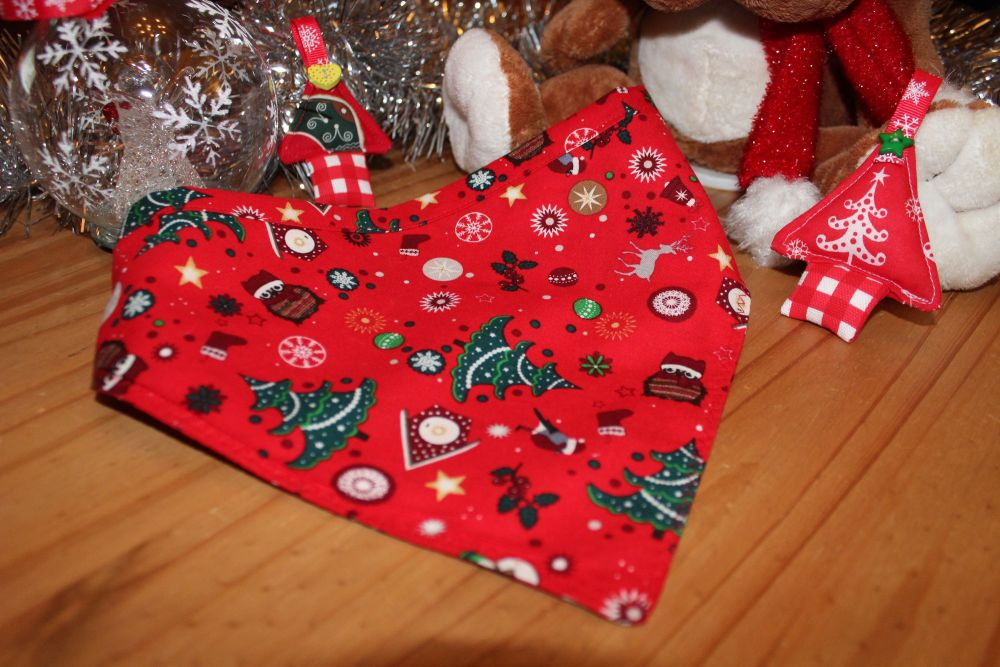Christmas Trees/Owls Bandanas